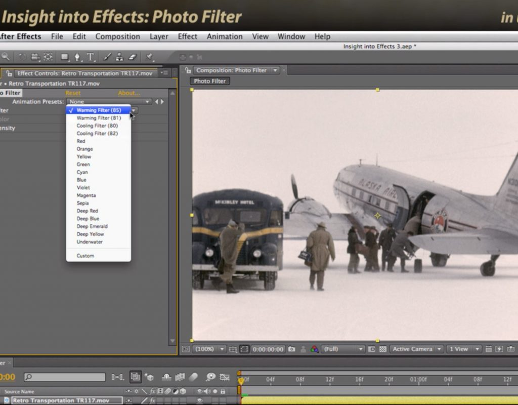 After Effects Classic Course: Photo Filter 1