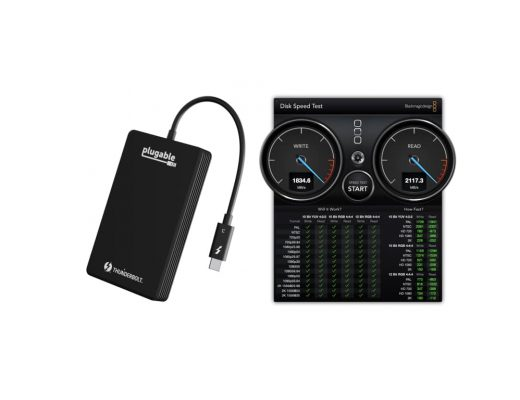 Speed test & review: Plugable NVMe Thunderbolt3 SSD external SSD 5