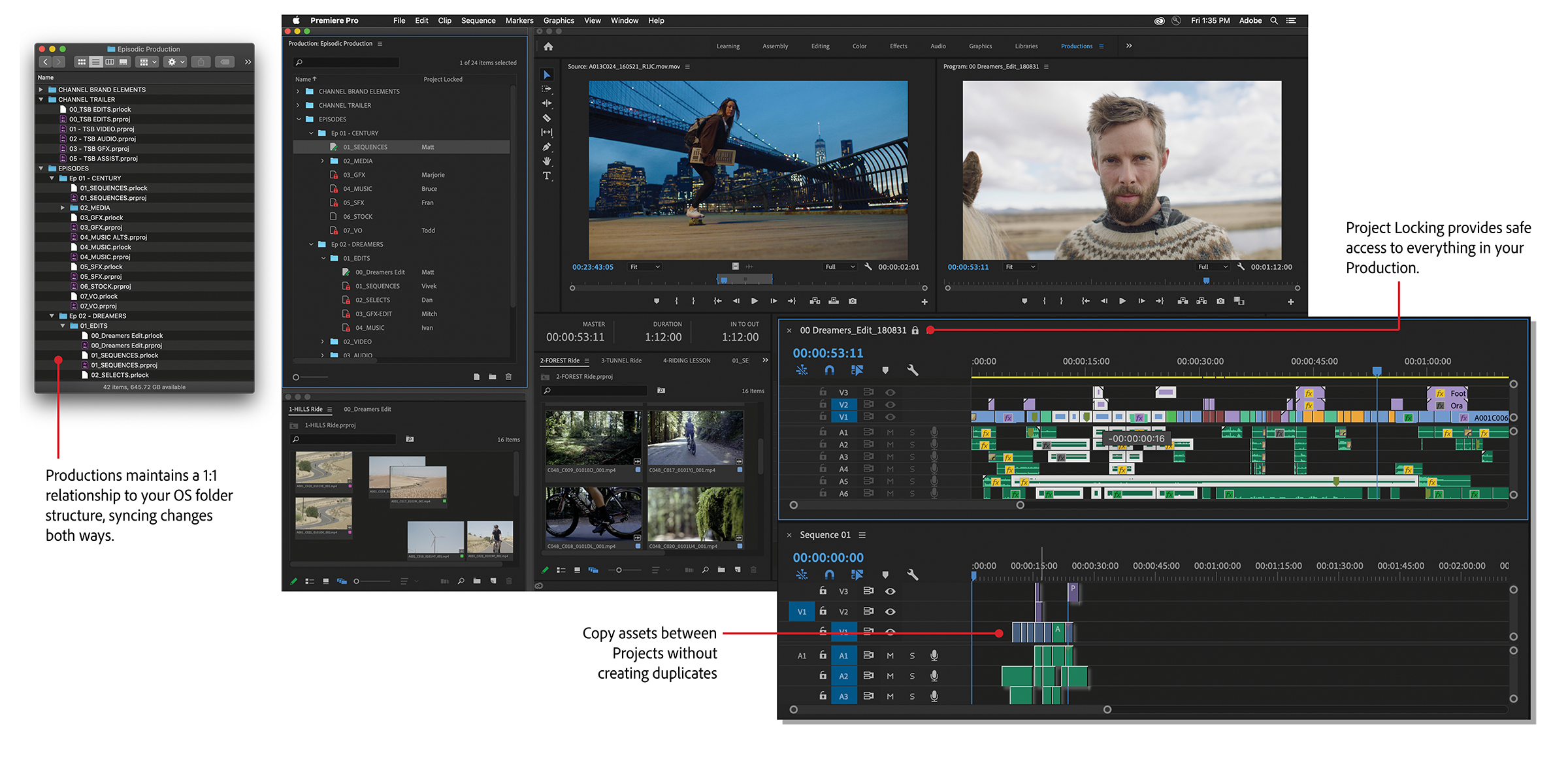 Adobe announces Productions: Premiere team projects for all 4