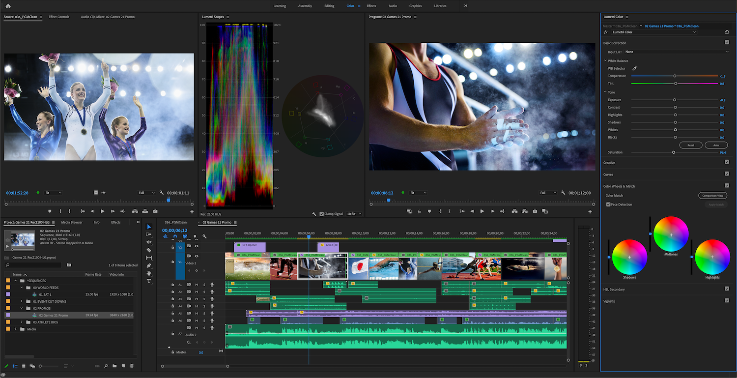 Adobe Premiere Pro HDR for broadcasters