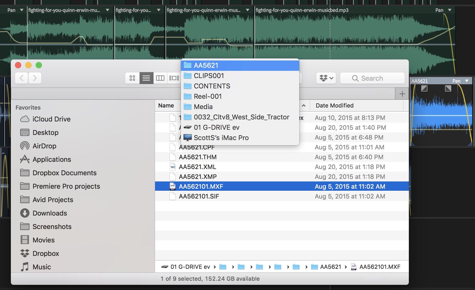 Adobe Premiere Pro Audition mxd files