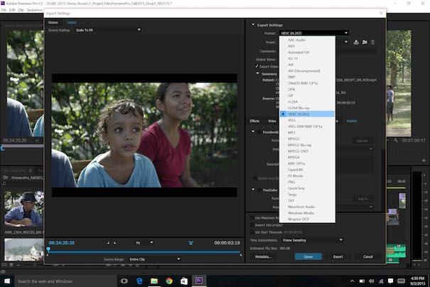 Premiere Pro CC H265