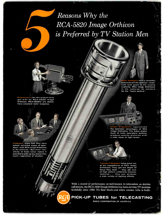 """The Image Orthicon. The Emmy got its name from this tube. Originally """"Immy"""" it was eventually changed to the more feminine sounding """"Emmy."""" From RCA Broadcast News"""