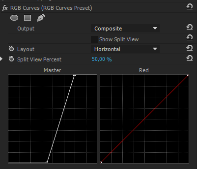 RGB Curves Settings