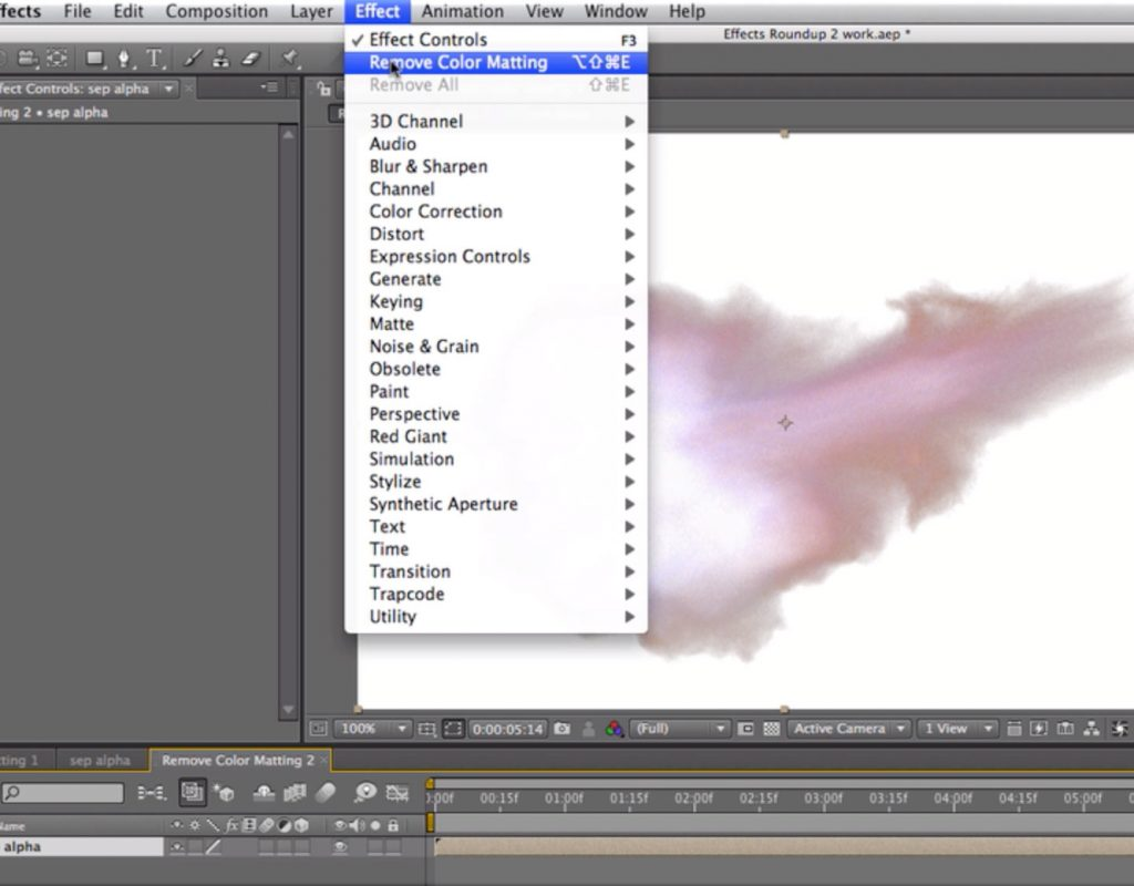 After Effects Classic Course: Remove Color Matting 1