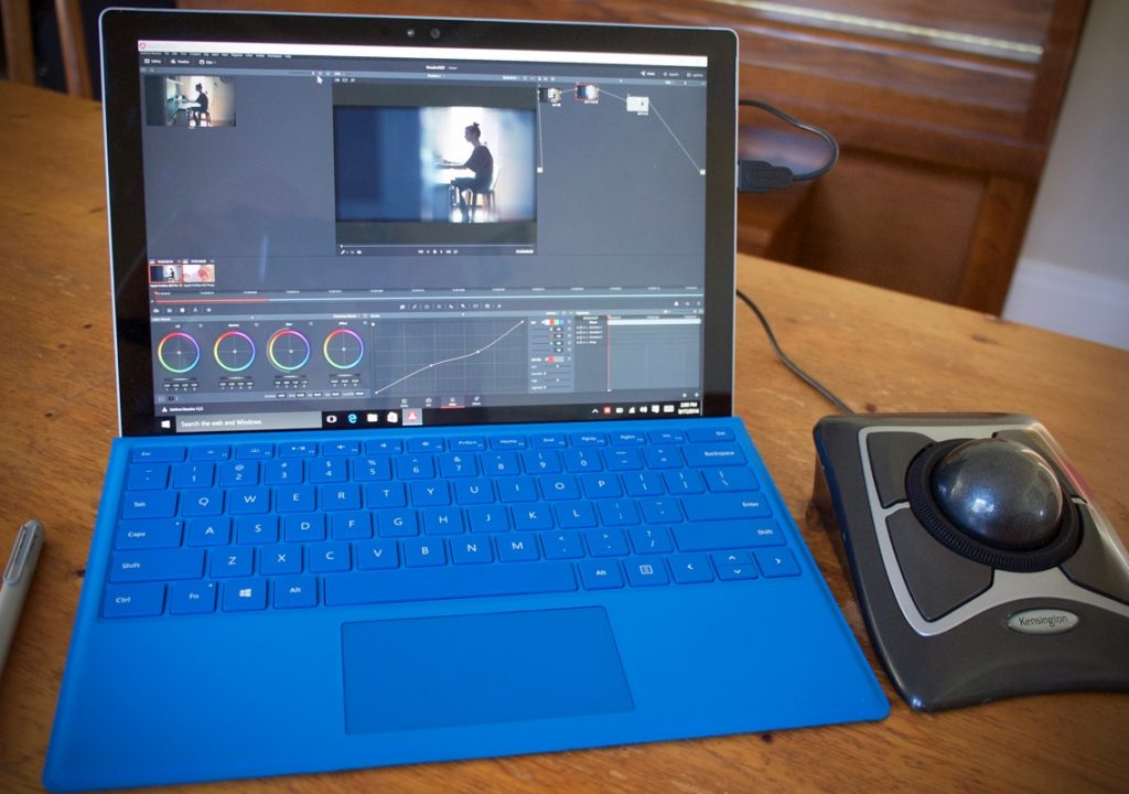 DaVinci Resolve on a Surface Pro 4 1