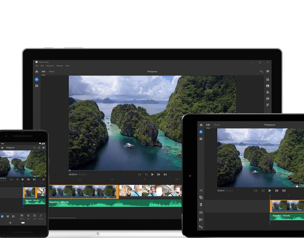 Adobe Project Rush: pro mobile/cross-device editing software 9