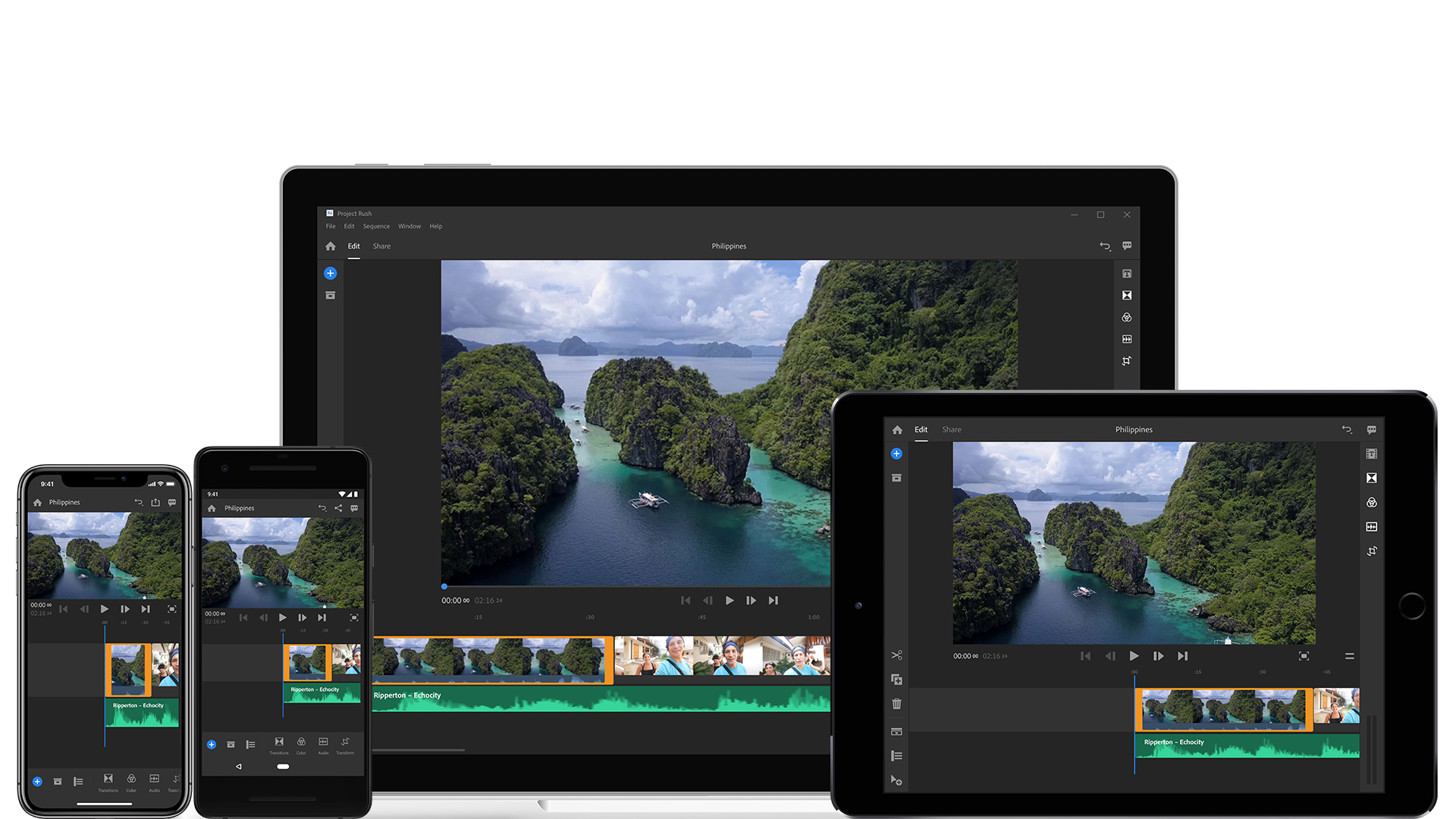 Adobe Project Rush: pro mobile/cross-device editing software by