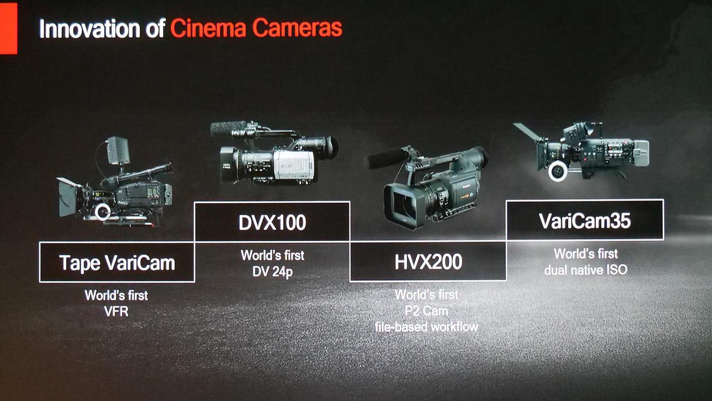 Panasonic cine cameras