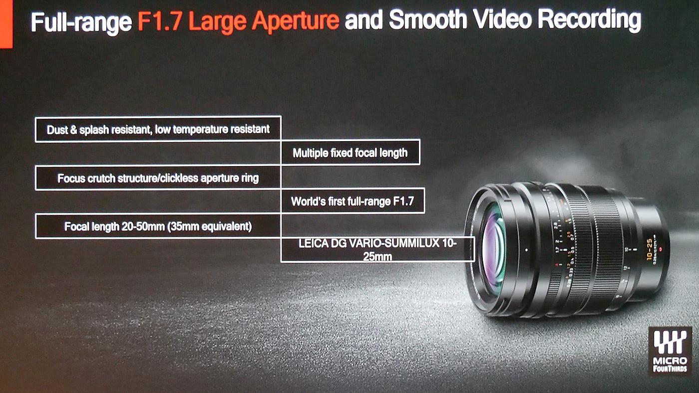 Panasonic Leica 10-25mm f/1,7 zoom