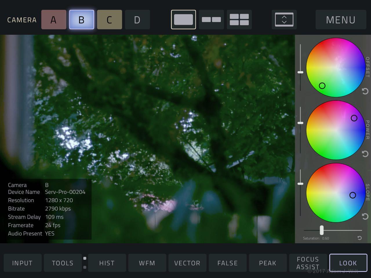 VUER's CDL editor, on iPad