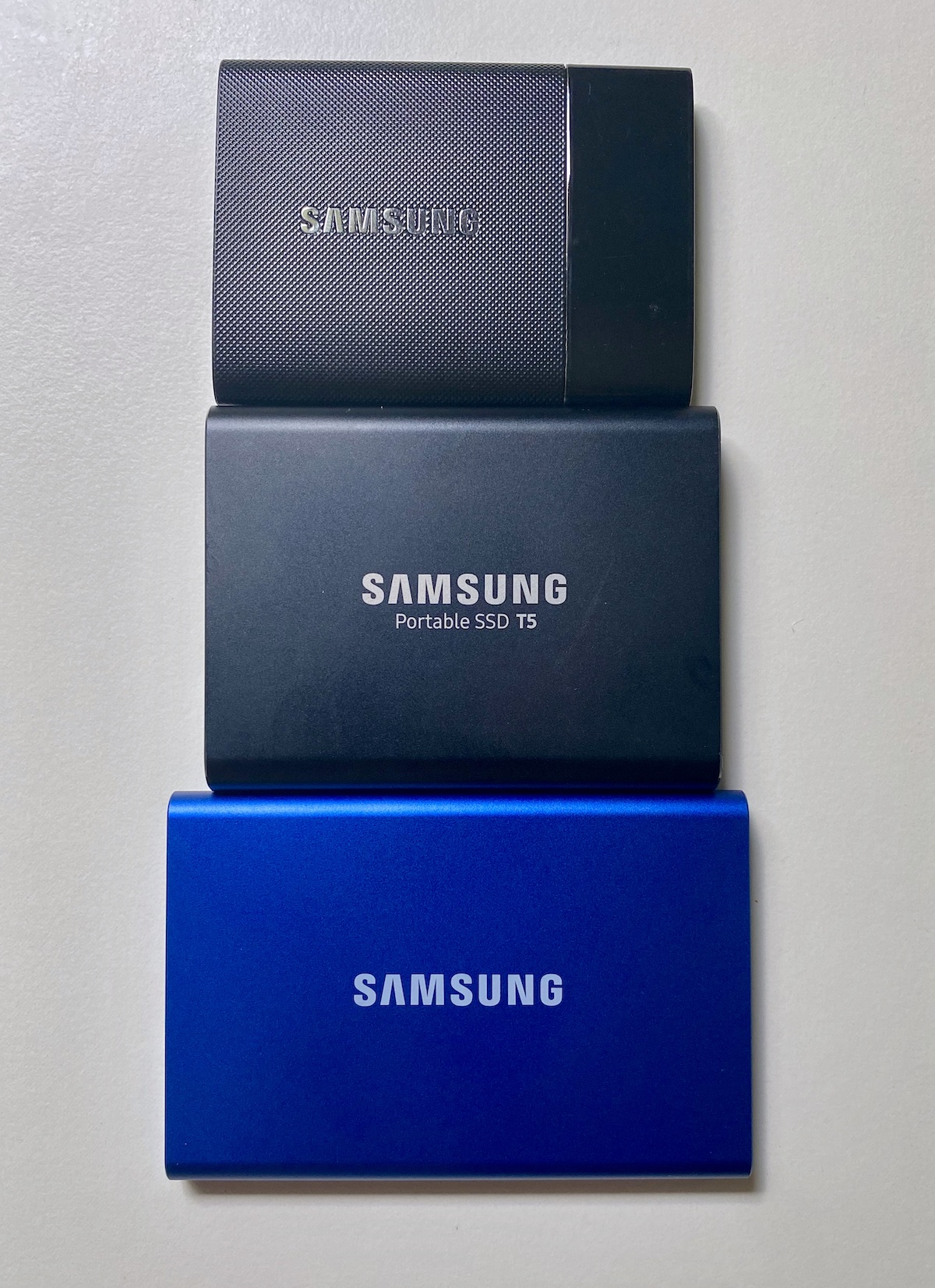 SSD drives and the Samsung Portable T7 SSD 3
