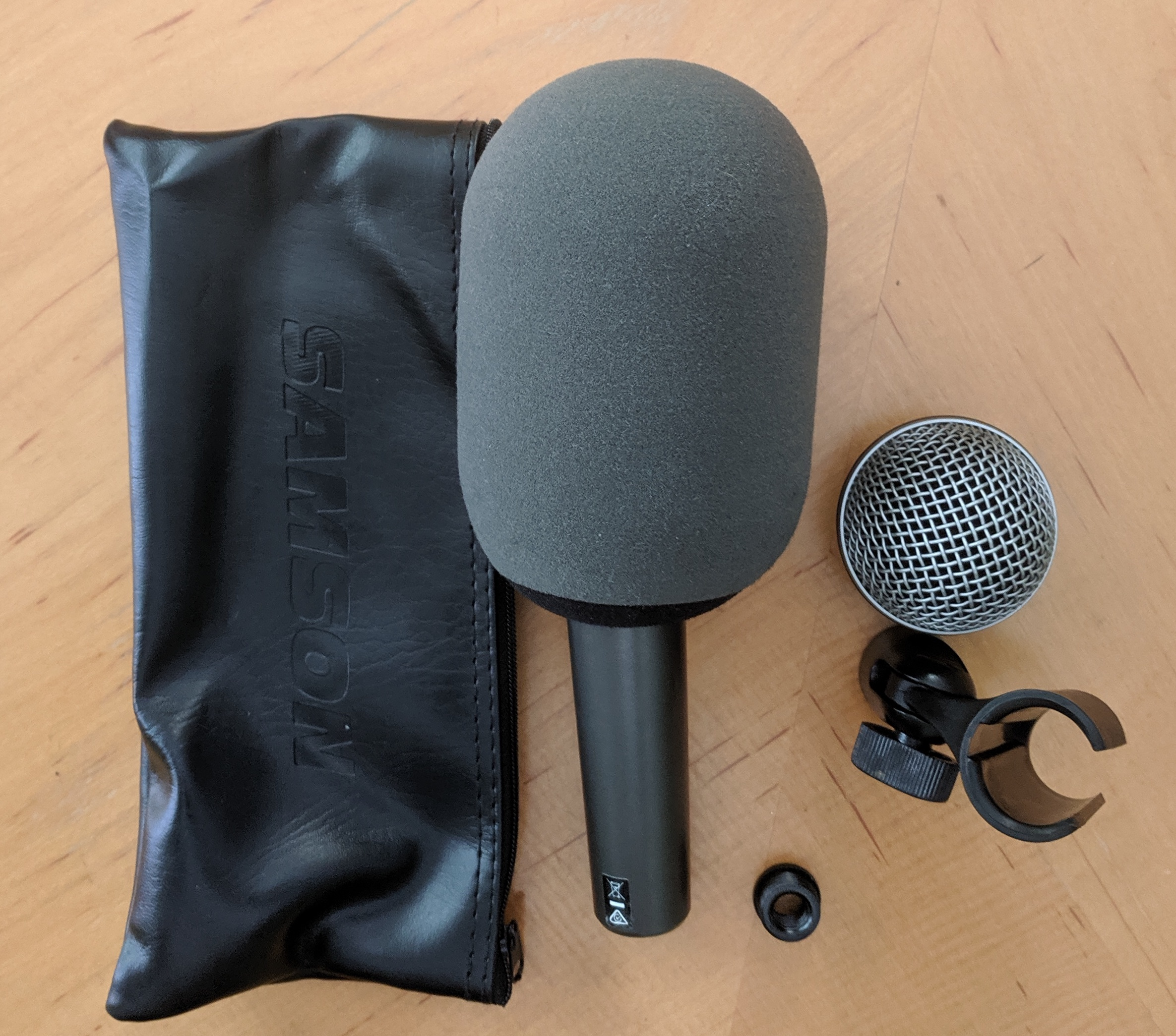Review: Samson Q8X supercardioid dynamic handheld microphone, headless with A81WS 3