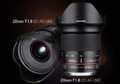 Samyang: a new 20mm T1.9 Cine lens