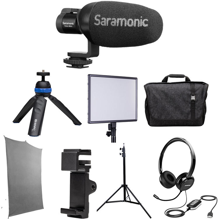 Review: Saramonic HomeBase3 kit with background, light, microphones and more 5