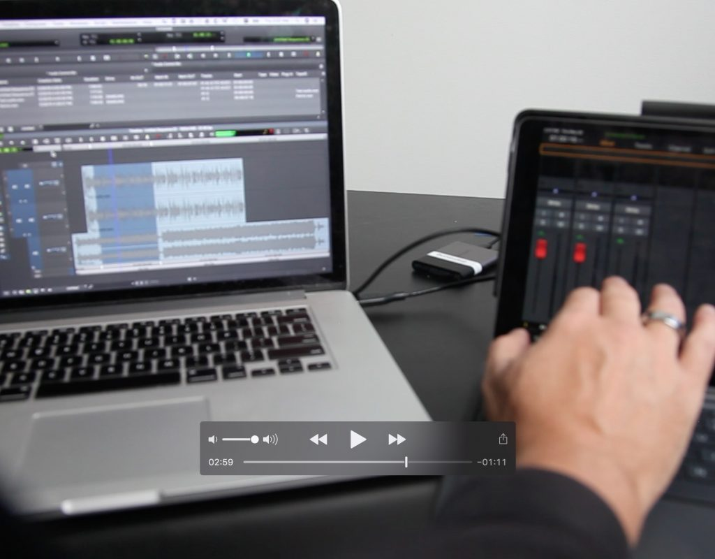 How to control Avid Media Composer's Audio Mixer in real-time with an iPad 1