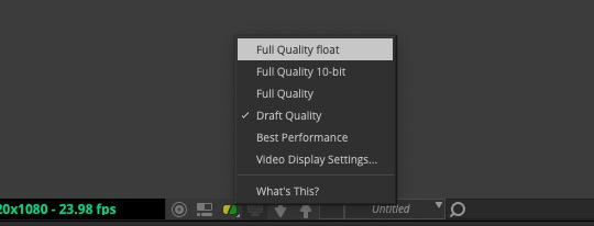 MC2019 - DNxUncompressed Float Video Settings