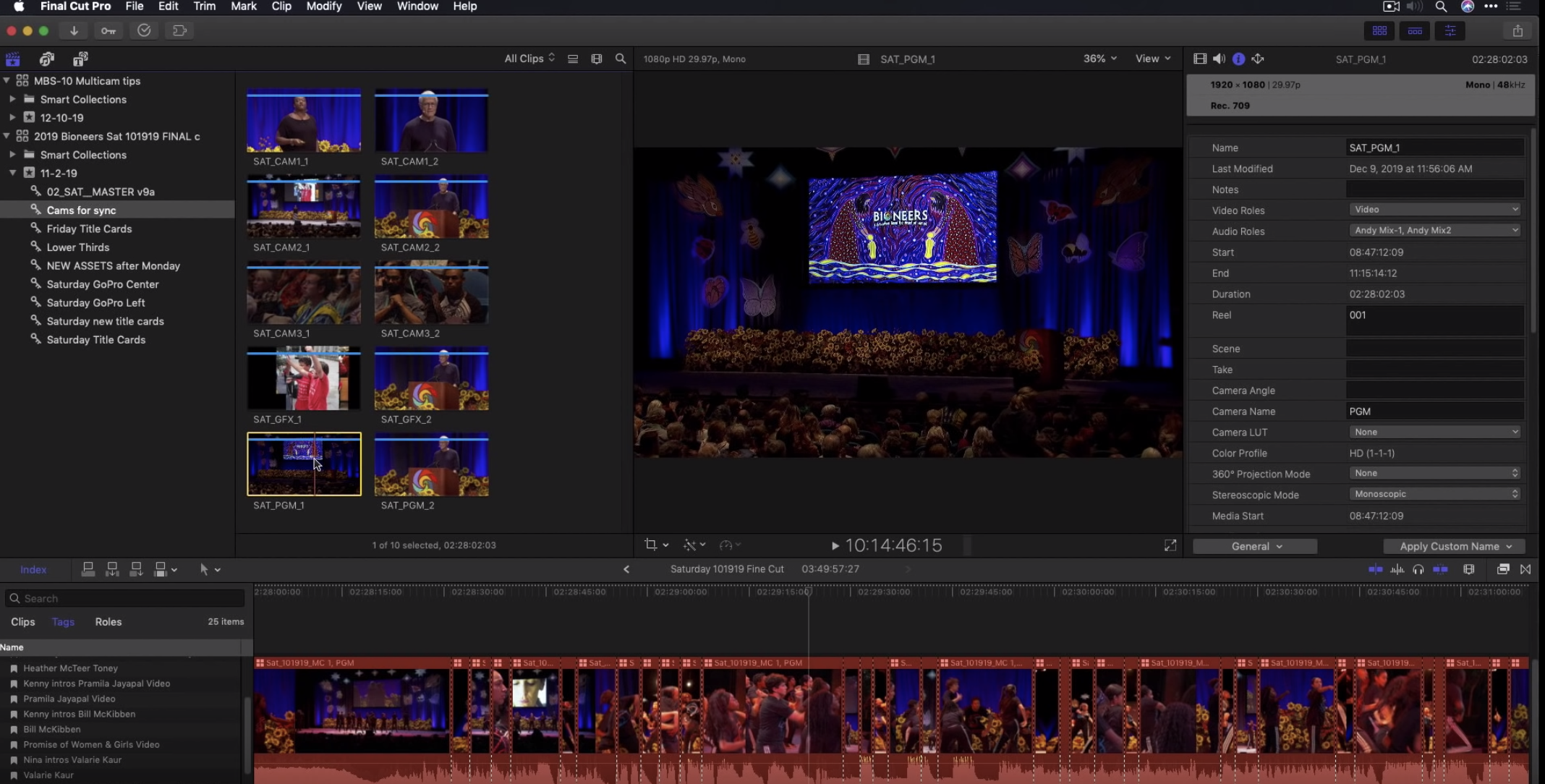 10 Tips for Multicam Editing in Final Cut Pro X by Mark Spencer - ProVideo Coalition