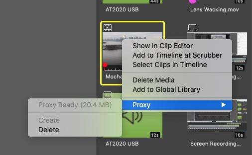 ScreenFlow 9 Proxy Creation