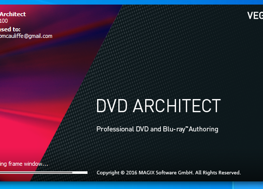 DVD Architect Splashpage