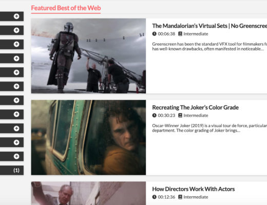 Moviola.com's Best of the Web: A curated library of the best filmmaking tutorials, tips and tricks 1