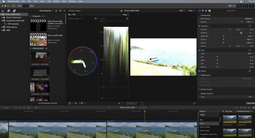 Editing iPhone HDR Video in Final Cut Pro 1