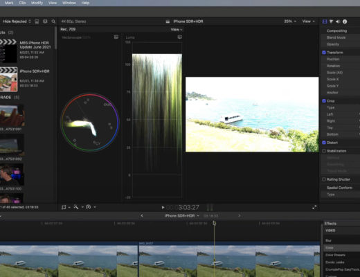 Editing iPhone HDR Video in Final Cut Pro 8