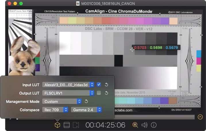 Screen viewer showing Color control and Pixel Sampler