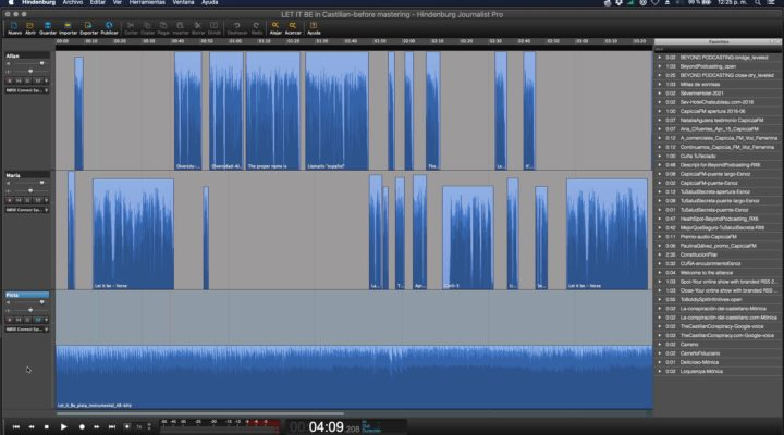 The making of a indie bilingual parody song from 3 locations 1