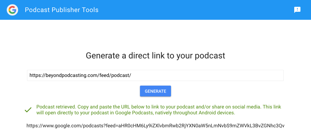 Google Podcasts app: They got it 99% right this time. 5