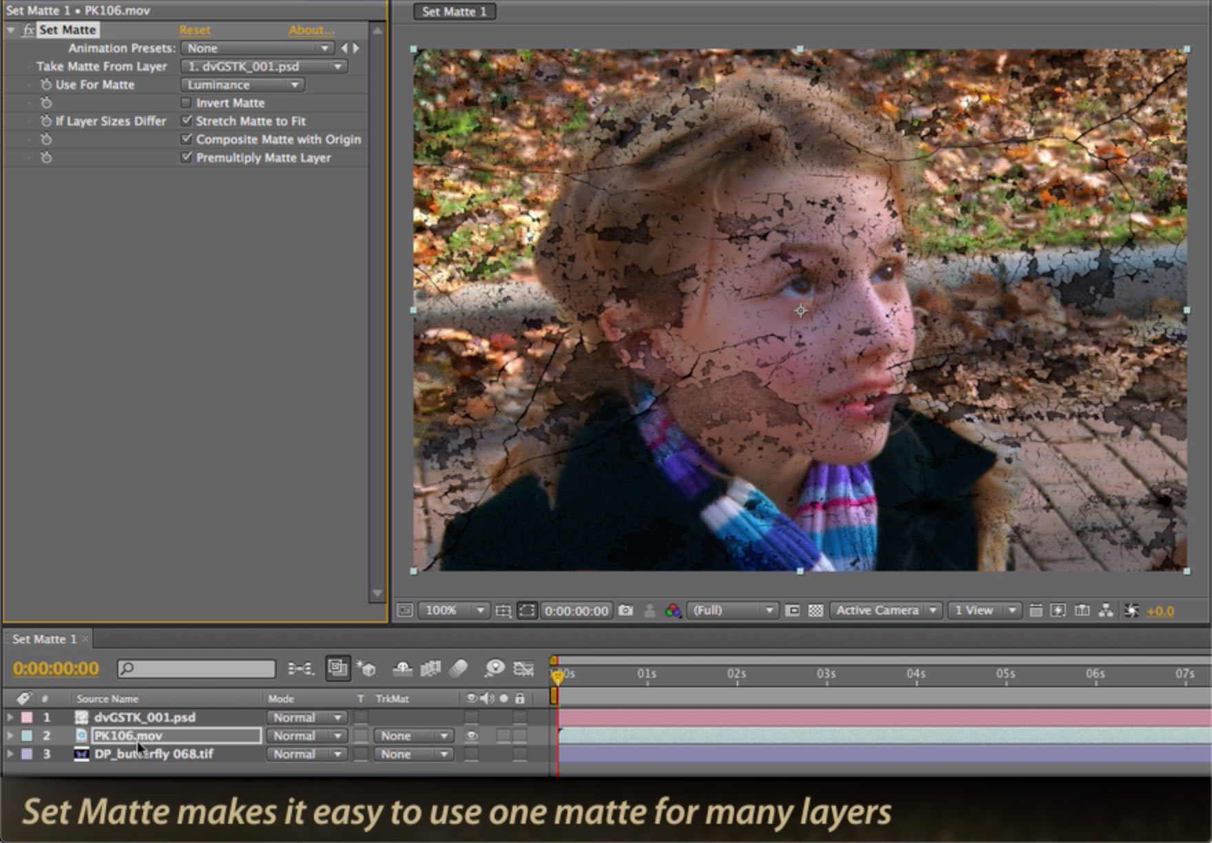 After Effects Classic Course: Set Matte versus Track Matte