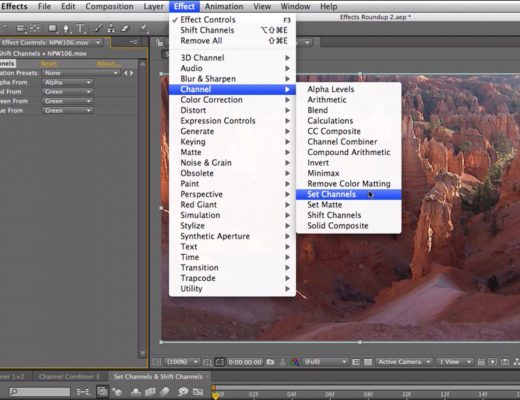 After Effects Classic Course: Set Channels & Shift Channels 8