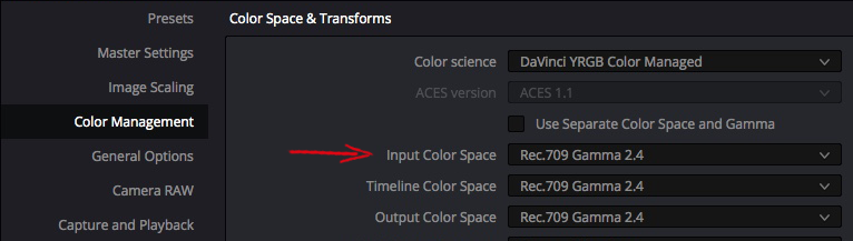 Solutions to Resolve 5: Taming Color Management – Part 1 14