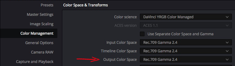 Solutions to Resolve 5: Taming Color Management – Part 1 16