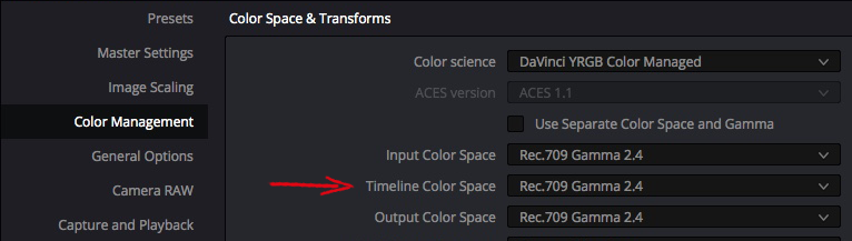 Solutions to Resolve 5: Taming Color Management – Part 1 17