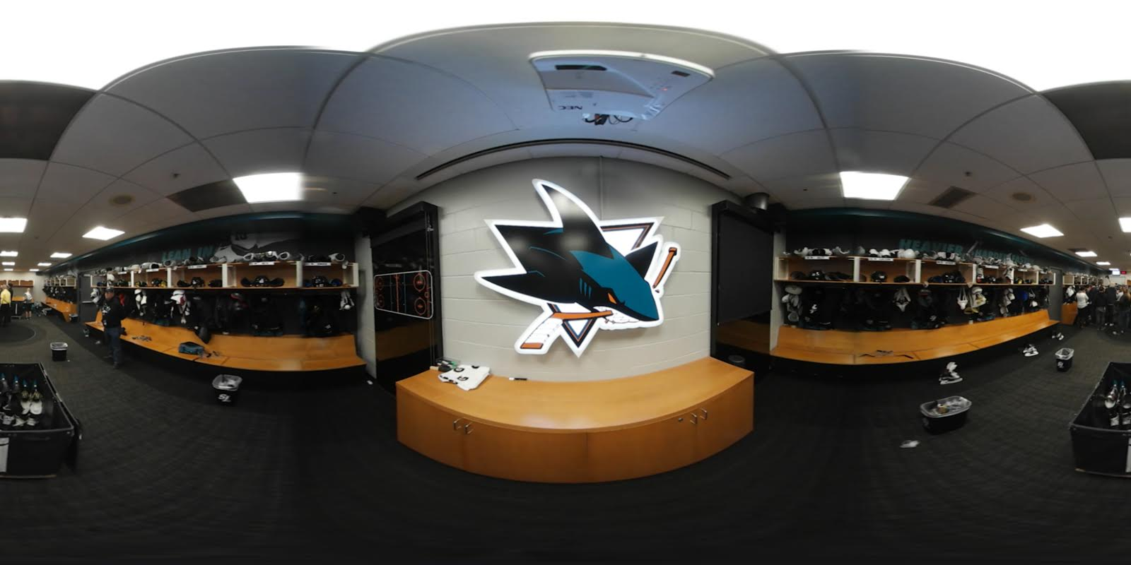 San Jose Sharks locker room