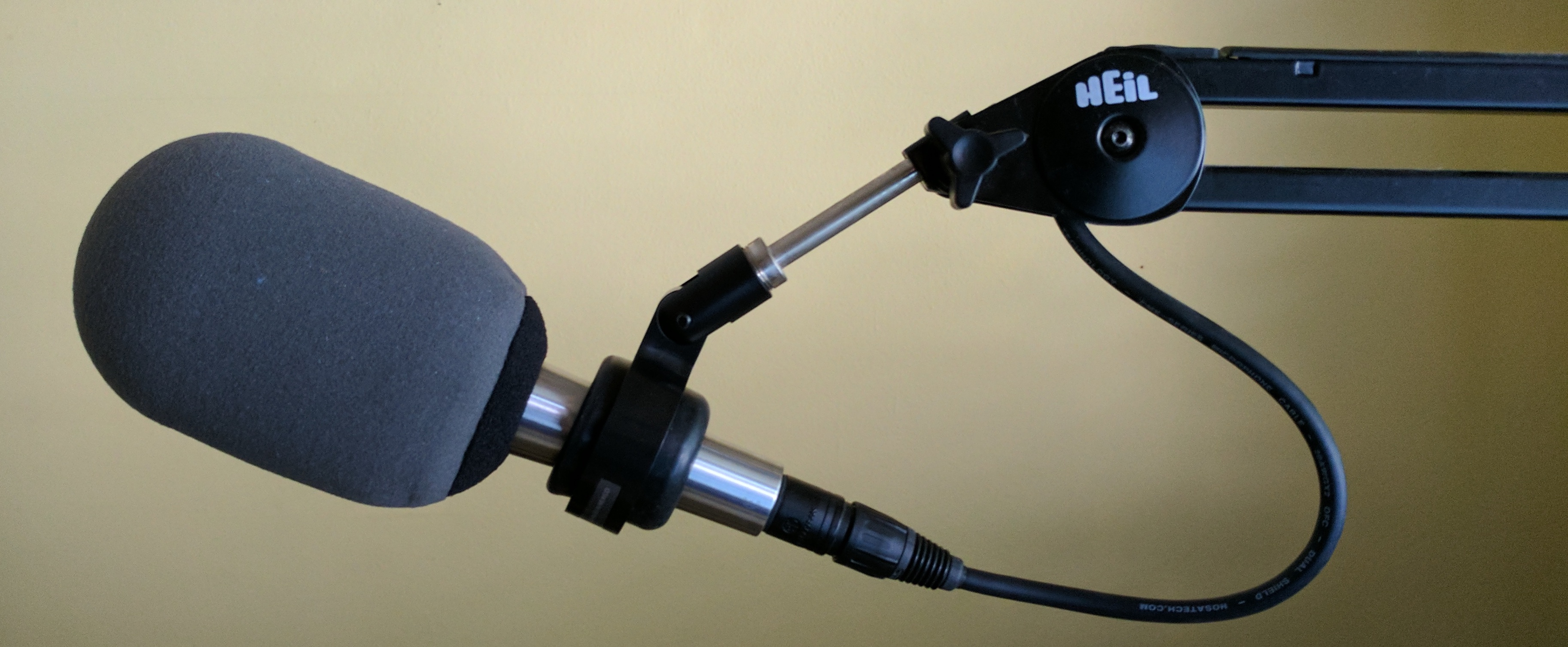 Shure 545 hung and dressed