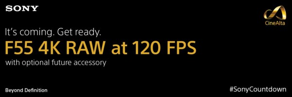 Sony Teases 120fps for F55 10
