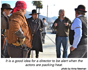 Don Starnes directing a scene.