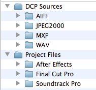 DCP project folders