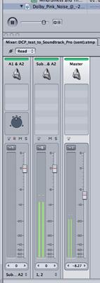 Soundtrack Pro Dolby pink noise