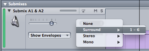 Soundtrack Pro Submix to Surround