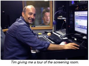 Tim giving me a tour of the screening room.