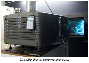 Christie digital cinema projector