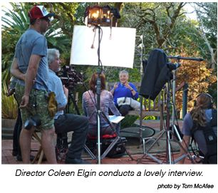 Coleen Elgin conducting an interview
