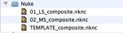 Nuke project files