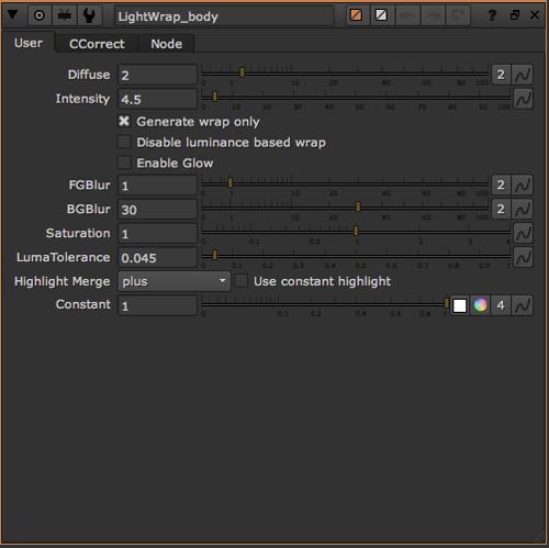 lightwrap Properties