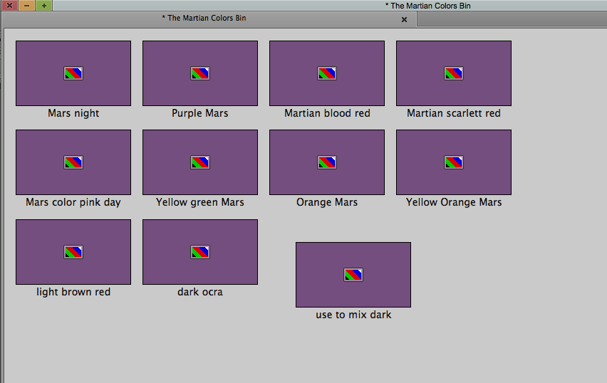 TM Martian Colors Bin