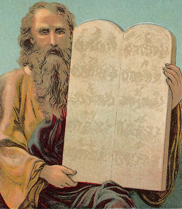 Tablets of the Ten Commandments Bible Card605