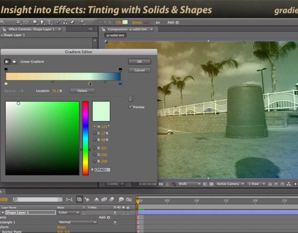 After Effects Classic Course: Tinting with Solids & Shape Layers 3